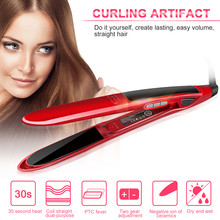 On sale Purodi floating hot tourmaline fast professional ceramic nano flat iron hair straightener straightening iron lcd titanium plate