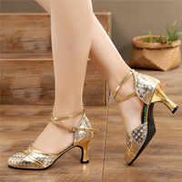 Zapatos de baile de jazz para mujer zapatos de baile latino mujer salsa zapatos de salón tacones de Punta cerrada zapatos baile latino mujer 34 41