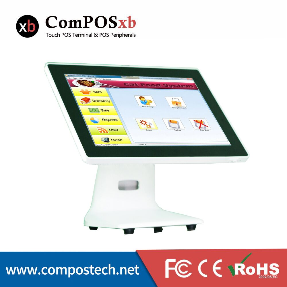 Ultra-thin plane touch screen monitor 15 inch pos touch machine all in one pos cash register computer terminal все цены