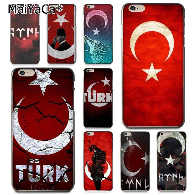 MaiYaCa Flag of Turkey Istanbul Antalya mustafa Coque Shell Phone Case for Apple iPhone 8 7 6 6S Plus X 5 5S SE 5C Cover