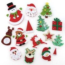 1 упаковка нетканый материал Санта Клаус снеговик лося войлочная ткань патч Сделай Сам ткань аппликации/ремесло Рождественская вечеринка патчи