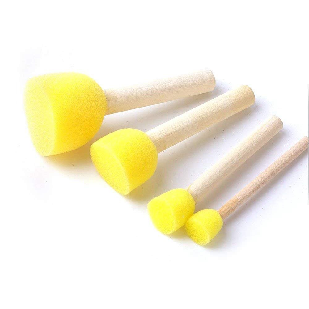 Round Paint Foam Sponge Brush Various Shaped And Sized, Watercolor Sponges For Painting, Craft