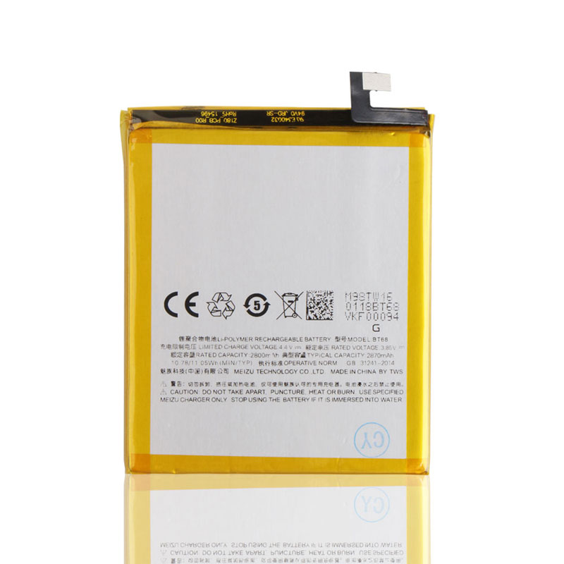 Original Backup for Meizu meilan 3 BT68 Battery 2800mAh Smart Mobile Phone for Meizu meilan 3 BT68 + Free Shipping+ Tracking No