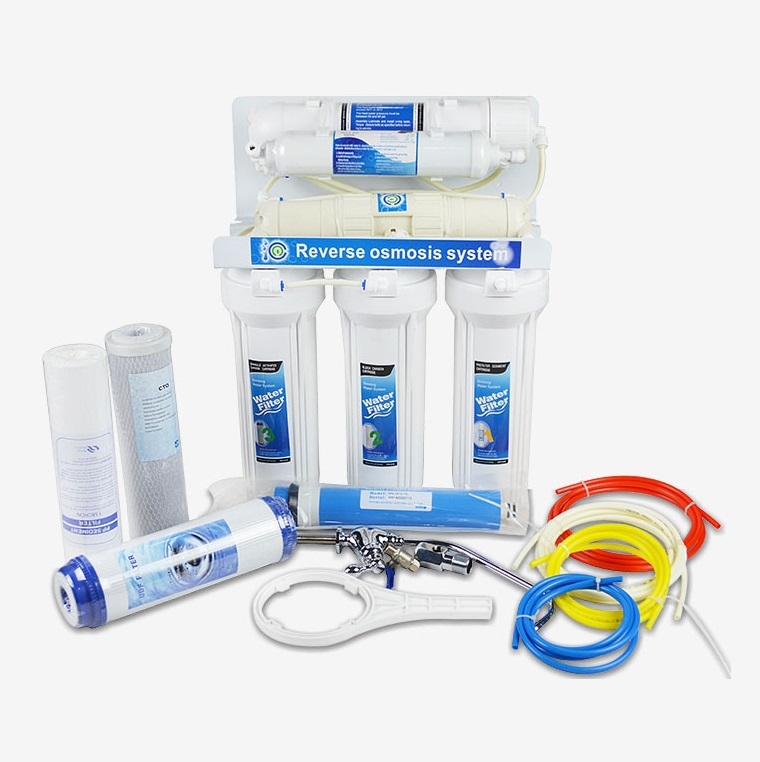 Household 5 stage RO water purifier,health water, ro water filter system,RO-5-75G without  electric Power Supply Aquarium filter 50g ro system accessories