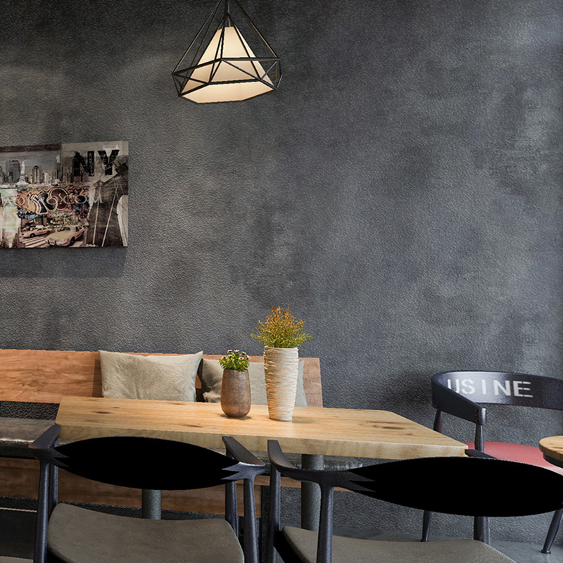 Retro Plain Grey Cement PVC Vinyl Wallpaper For Walls Living Room Bar Cafe Restaurant Clothing Shop Background Wallpaper Roll custom retro wallpaper personality background painting used in hotel restaurant coffee shop background wall vinyl wallpaper