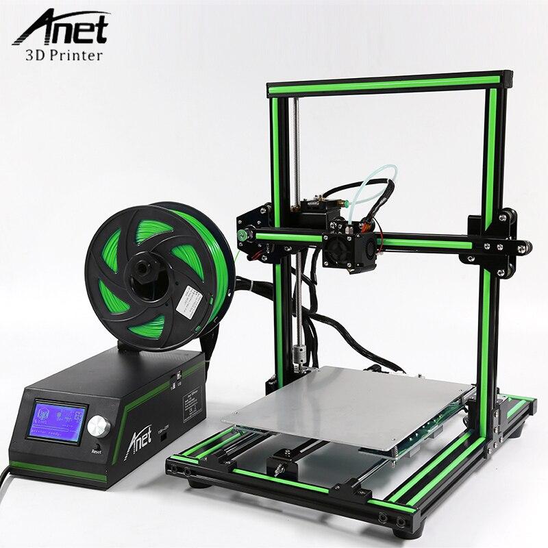 Anet E10 imprimante 3D cadre en aluminium multi-langue imprimante 3D bricolage ensemble écran LCD 3D bureau impression Machine Support carte SD