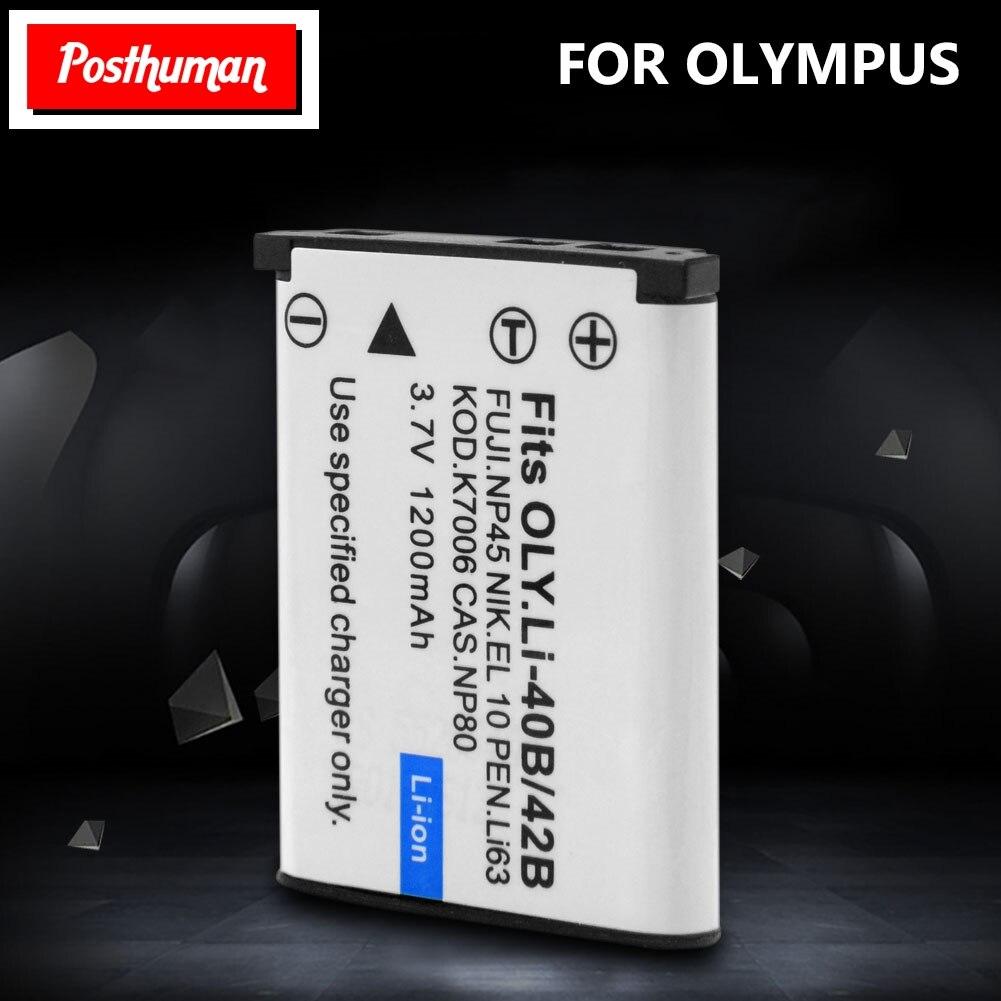Аккумулятор для камеры Nikon, оригинальный, перезаряжаемый, 3,7 В, 1,2 А/ч, для Olympus Leise, для Fuji, NP45, Li, 40B, 42B, Li40B, с зарядным устройством, с зарядным уст...
