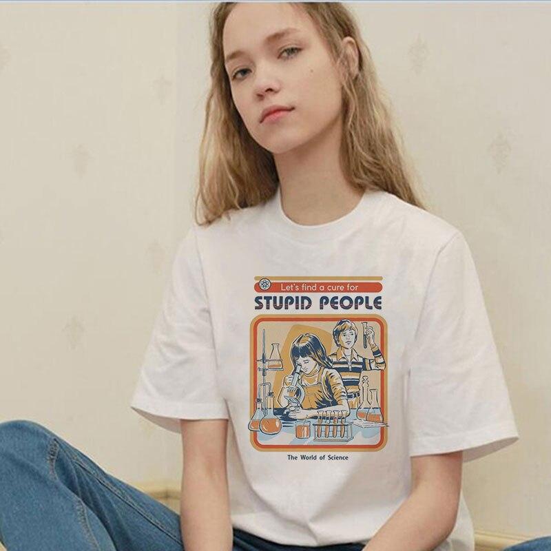 Été 2019 Vintage Harajuku drôle esthétique blanc Couple T-Shirt femmes décontracté imprimé à manches courtes hauts Camiseta Mujer