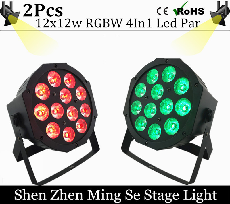 2pcs/lots 12w led  lamp beads 12x12W led Par lights RGBW 4in1 flat par led dmx512 disco lights professional stage dj equipment fast russia shipping 7x12w led par lights rgbw 4in1 flat par led dmx512 disco lights professional stage dj equipment
