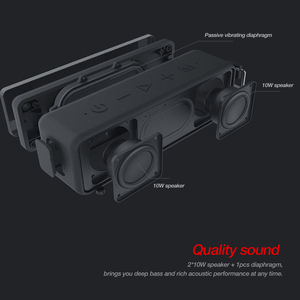 Image 4 - Bluetooth Колонка NILLKIN IPX7 Водонепроницаемая портативная уличная Колонка Bluetooth 5,0 Беспроводная стерео музыка объемный громкий динамик s