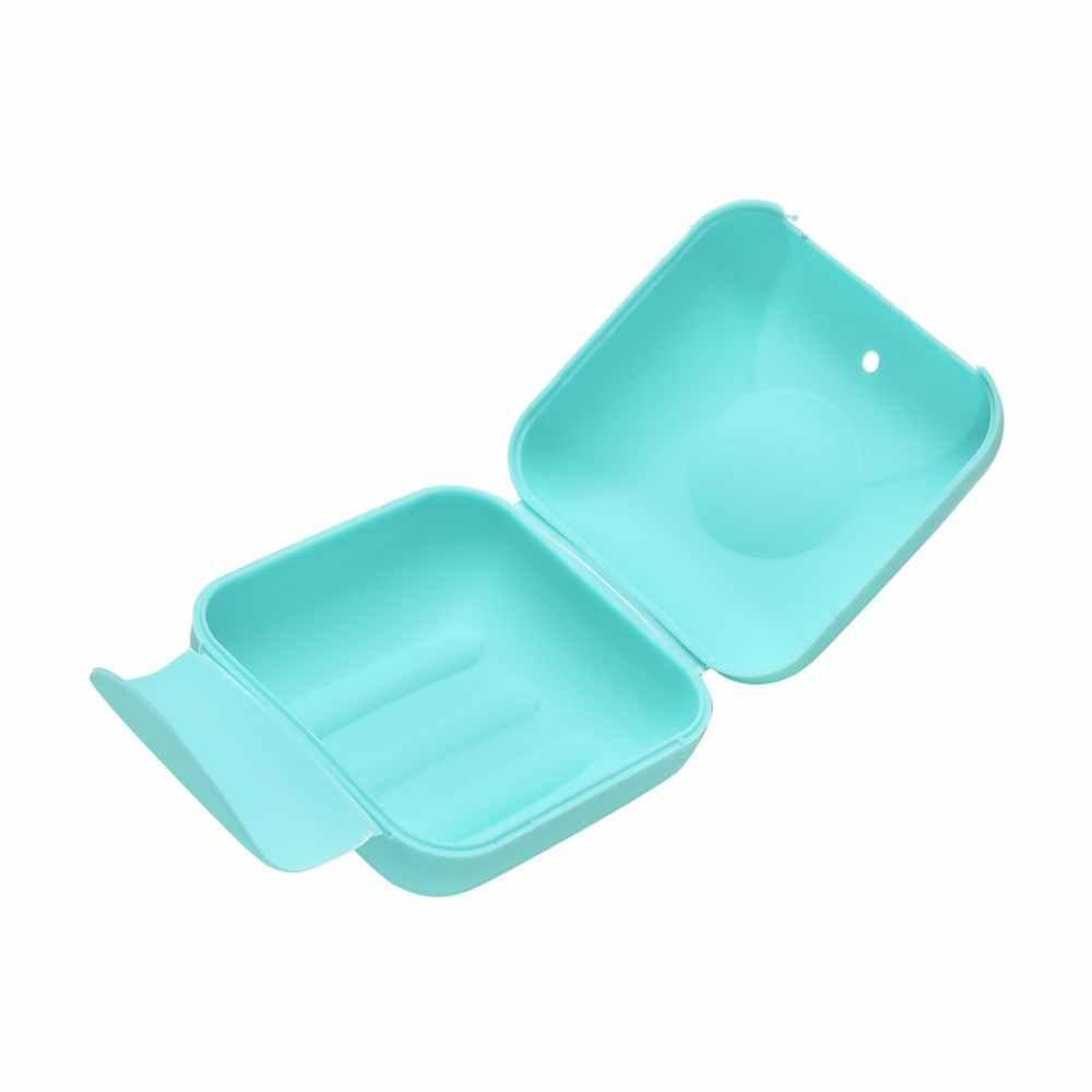 スモール/ビッグサイズポータブルソープディッシュ石鹸容器浴室アクセサリー旅行ホームプラスチック石鹸箱カバー