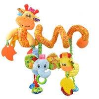 סובב מיטת רעשנים תינוק צעצועים לתינוק רעשן בעלי חיים בפלאש צעצוע נייד תינוק המכונית עגלת תינוקות חמוד ממולא רך צעצועים תלויים פעמון