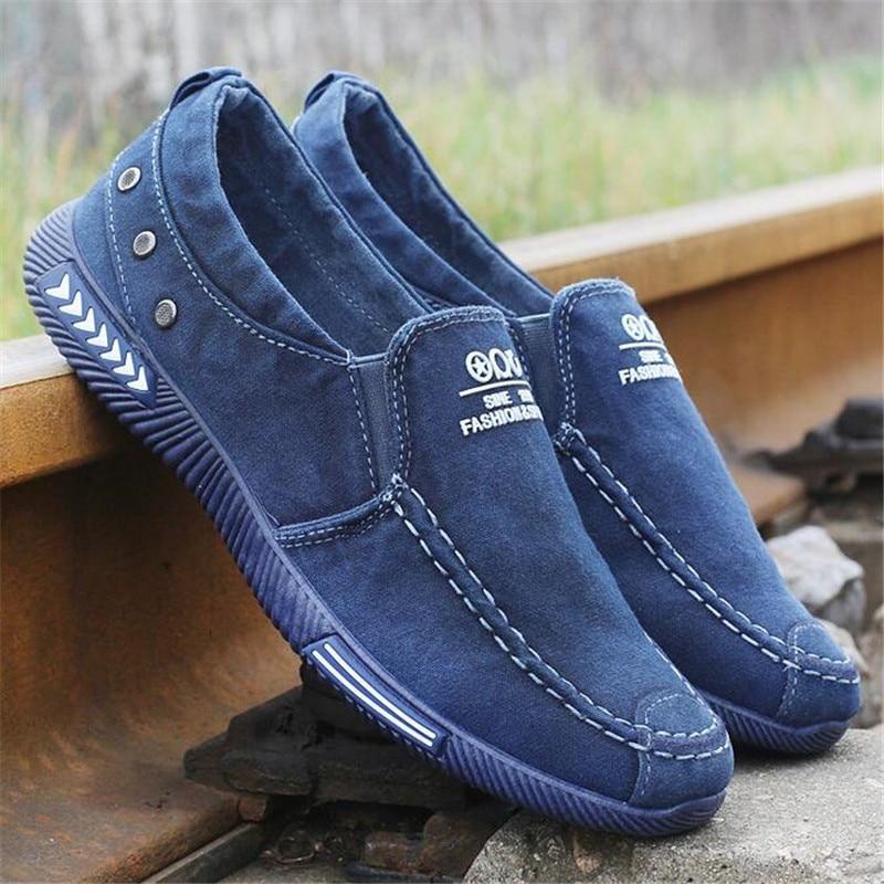 Canvas Men Shoes Denim Lace-Up Men Casual Shoes New Plimsolls Breathable Male Footwear Spring Autumn Sneakers Platform shoes