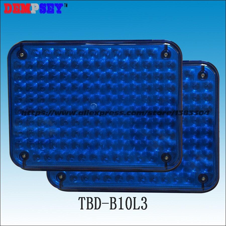 Tbd-b10l3 Hohe Qualität Warnleuchten Für Feuerwehrauto & Krankenwagen Wasserdicht Dc12v Oder 24 V,/blau 134 Leds Oberflächenmontage