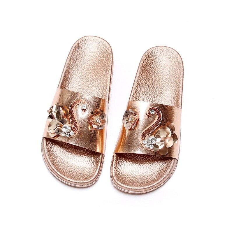 Лето Большой Обувь размера 35-41 Женские босоножки модные шлепанцы с цветами женские шлепанцы Домашние тапочки Уличная обувь без каблука