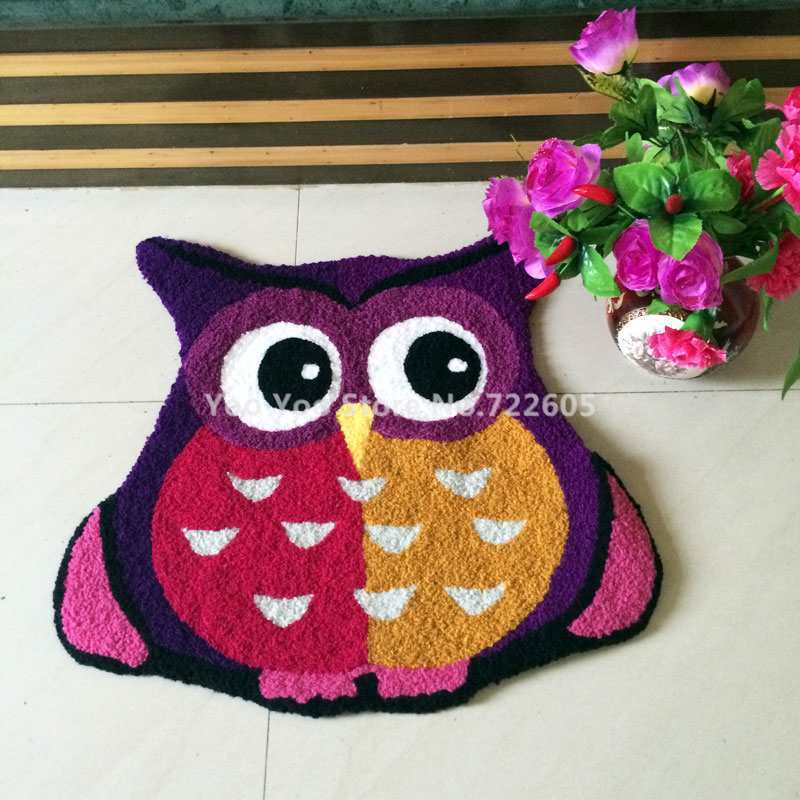Aliexpress.com : Buy Free Shipping Handmade Animal Owl Rug Machine Washable  Rugs Floor Mat Carpet To Room Tapis Alfombras,70*65cm From Reliable Mat  Carpet ...