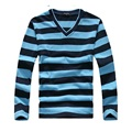 Long sleeve T-shirt men thick Striped fashion shirts