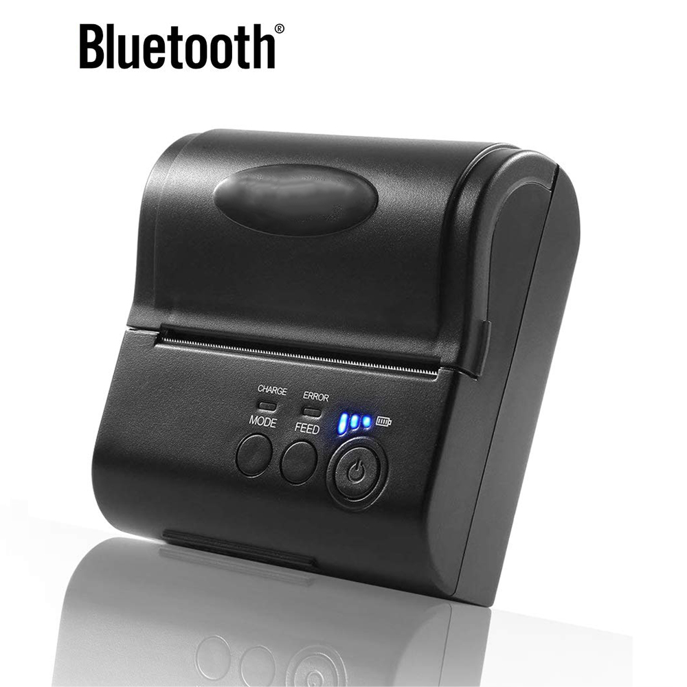 IMP005 3 Inch 80mm Bluetooth Thermal Receipt Printer Portable USB Printer Support Computer Android Free SDK