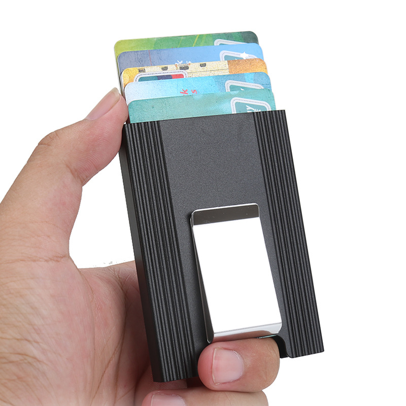 Leather Pocket Case Business ID Credit Card Money Wallet Holder Purse Gift