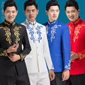free shipping 2016 new Chinese style mens stand collar dress tunic show suit national costume host singer Chorus wedding suits