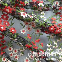 High quality african voile lace fabric with flowers (width=110cm) off 15% hot sale to the USA