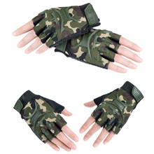 Kyncilor Tactical Gloves Outdoor Fighting Fitness Half-finger Protector Exercise Dumbbell Anti-skid Air-permeable Riding