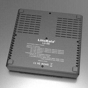 Image 5 - LiitoKala Lii S6 배터리 충전기 18650 충전기 6 슬롯 자동 극성 감지 18650 26650 21700 32650 AA AAA 배터리