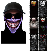 Outdoor sports magic scarf changed towel embroidery lines clown skulls diffuse collar seamless ride mask