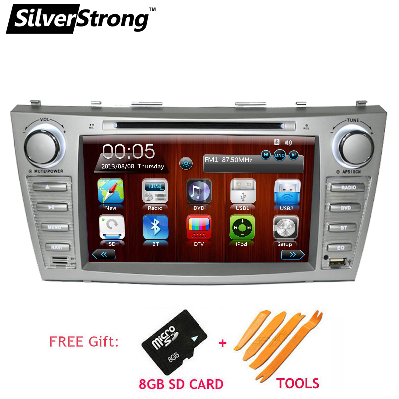 SilverStrong 2DIN Car DVD Navigation for Toyota Camry dvd car 2007 to 2011 Camry v40 gps auto radio navigation Bluetooth Radio silverstrong 8inch 2din android7 1 radio car dvd for suzuki sx4 mp4 mp3 radio navitel gps navi
