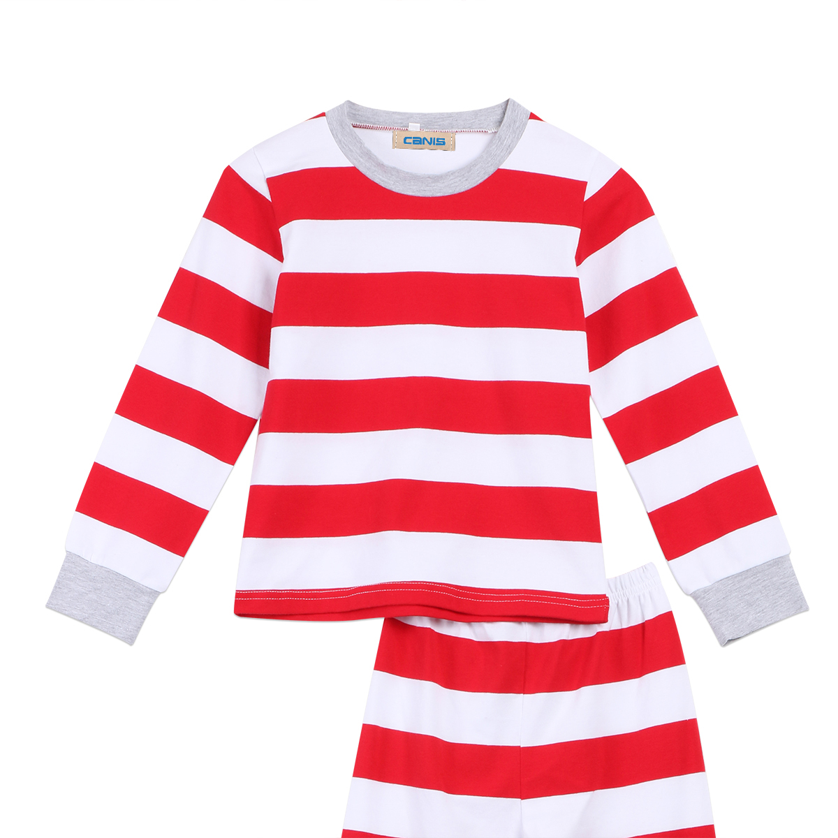 1fe5f88fa1 Family Matching Christmas Pajamas Set Xmas Red Striped Long Sleeve  Sleepwear Nightwear Tops Pants Outfits Clothes-in Matching Family Outfits  from Mother ...