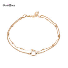 Brief Double Rows Copper Chain Choker Necklace For Women New Pendant Choker Collar Fashion Jewelry Colliers Colar Bijoux Femme