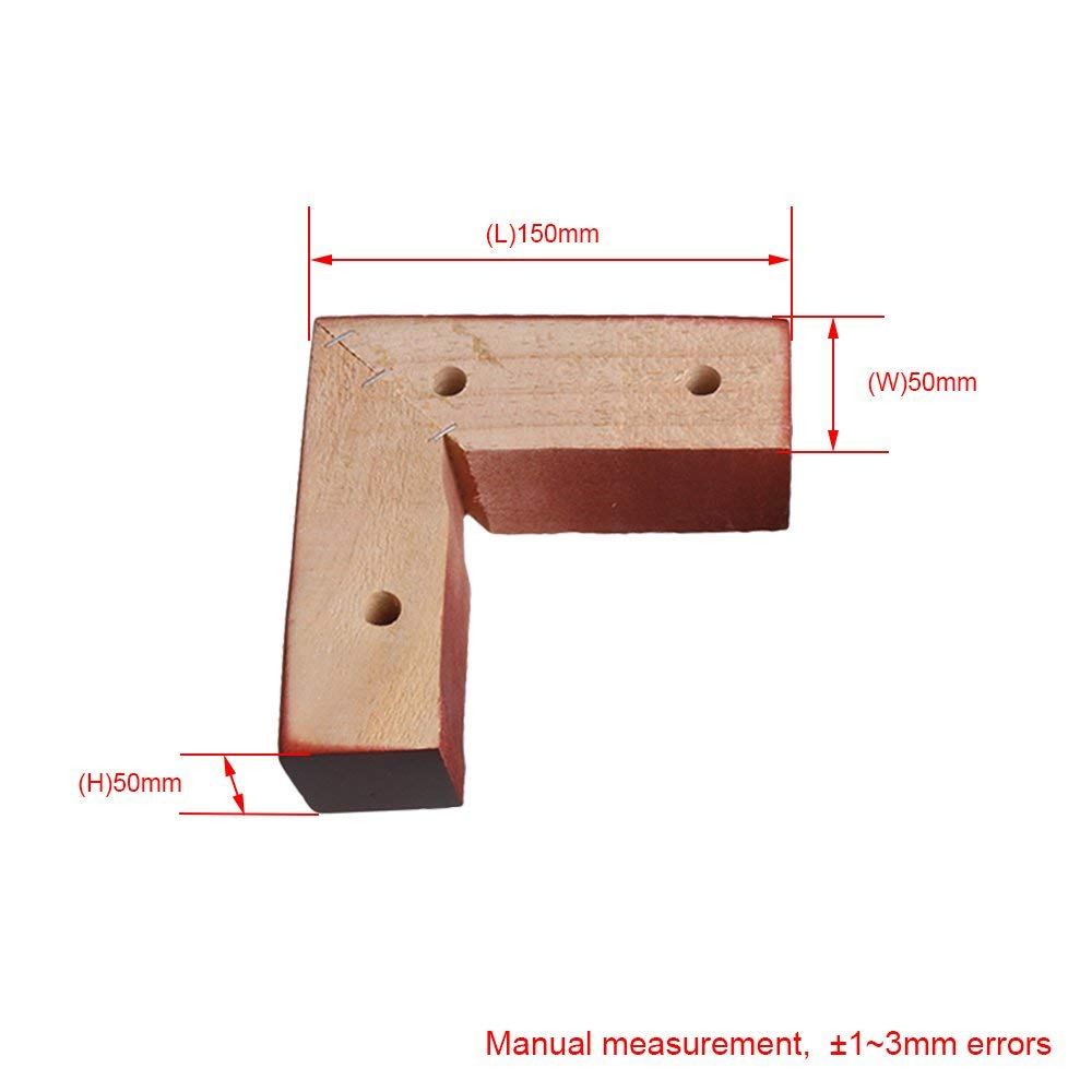 4PCS Oak Wood 15x5x5cm Red Brown Right Angle Wooden Furniture Leg Feet 100kg Bearing Weight For Sofa Cabinet Tables Beds