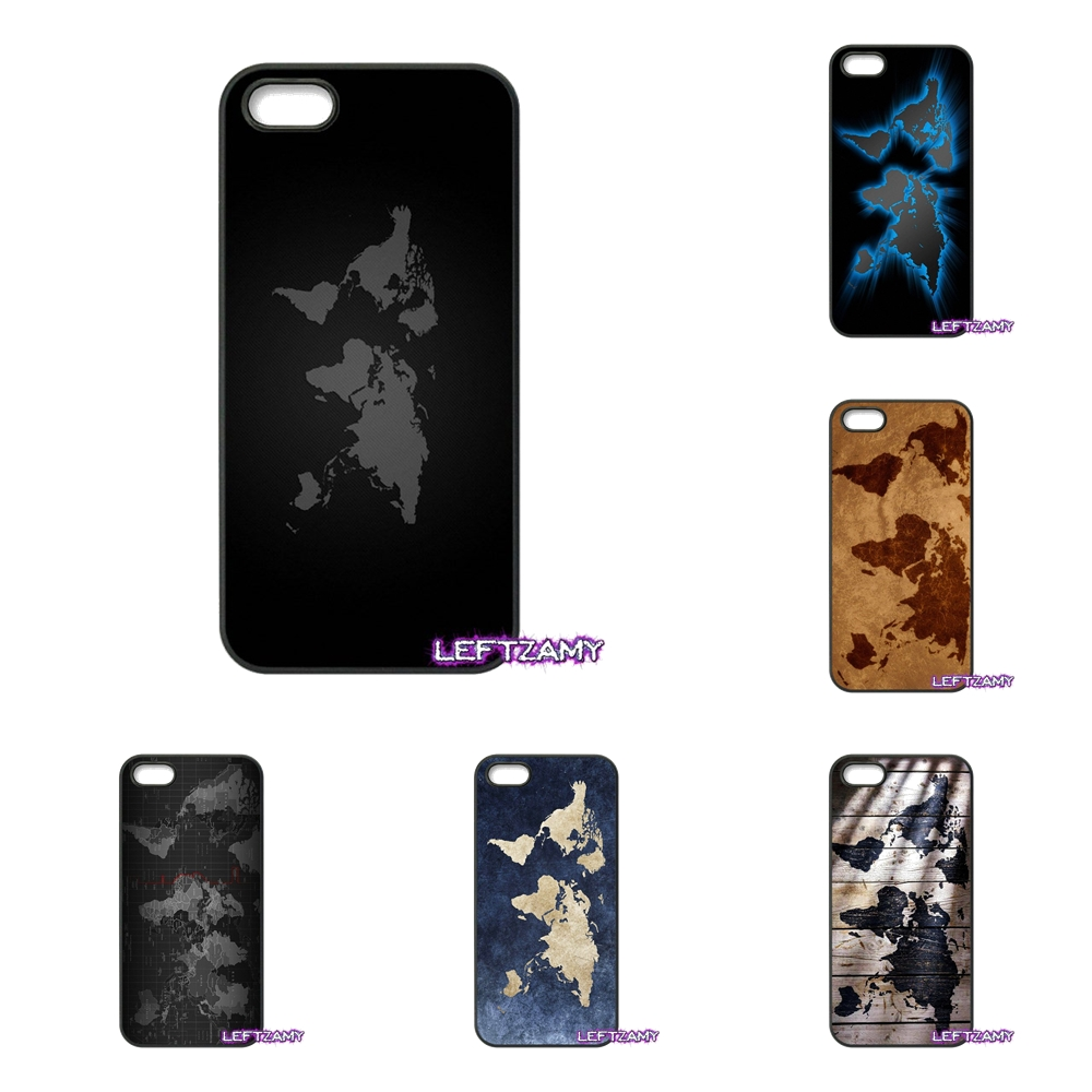 Fashion World map Hard Phone Case Cover For iPhone 4 4S 5 5C SE 6 6S 7 8 Plus X 4.7 5.5 iPod Touch 4 5 6