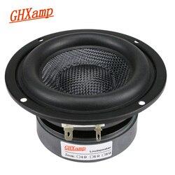 Ghxamp 4 Polegada woofer subwoofer alto-falante unidade de alta fidelidade 4ohm 40w fibra de vidro tecido bacia graves profundos loudspeakr grande magnético 1pc