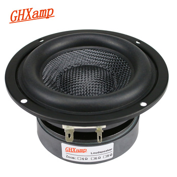 GHXAMP 4 Inch Woofer Subwoofer Speaker Unit HIFI 4ohm 40W Fiberglass Woven Basin Deep Bass Loudspeaekr Large Magnetic 1PC subwoofer