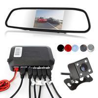 4 Sensors Dual Core CPU Digital Display Car Video Parking Sensor Auto Reverse Backup Radar Assistance With Step up Alarm