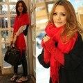 Новый шарфа шерсть мягкая многоцветные теплые шарфы длинный большой шали кисти