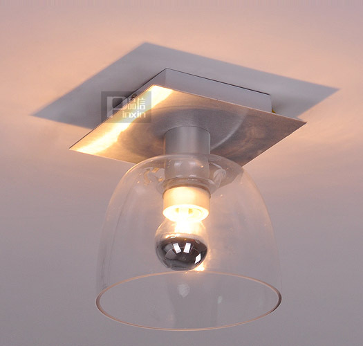 Small Size Clear Glass Ceiling Light Modern Porch hallway balcony Ceiling lamp Free Shipping Smart Aluminum base Ceiling Fixture fumat stained glass ceiling lamp european church corridor magnolia etched glass indoor light fixtures for balcony front porch