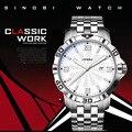 SINOBI Chronograph Watches for Men Steel Geneva Wristwatch 10bar Waterproof Quartz Military Sport Watches Relogio Masculino