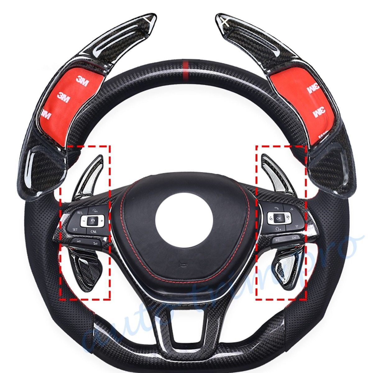 DSG Steering Wheel Shift Gear Paddle Shifter Extension Cover Fit For VW Scirocco GTS Golf7 R