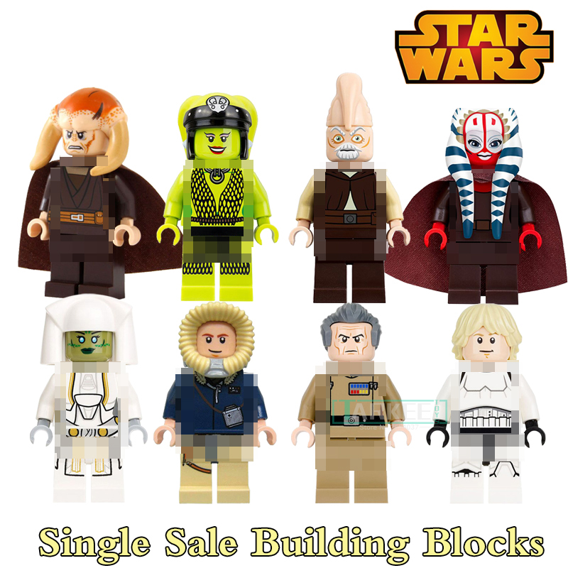 Building Blocks PG8051 Shaak Ti Jedi Luke Skywalker Star War Togruta Super Heroes Set Model Action Bricks Kids DIY Toys Hobbies building blocks agent uma thurman peeta dc marvel super hero star wars action bricks dolls kids diy toys hobbies kl069 figures