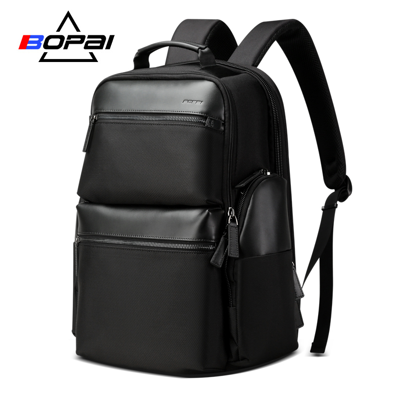 Men Leather Backpack Anti Theft Smart Uab Travel Backpack Waterproof Male Laptop Bagpack Black Bag Man School College Schoolbag Backpacks Luggage & Bags
