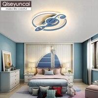Qiseyuncai современная детская комната Примечания Новый светодиодный потолочный светильник мультфильм творческая личность простой спальня ма