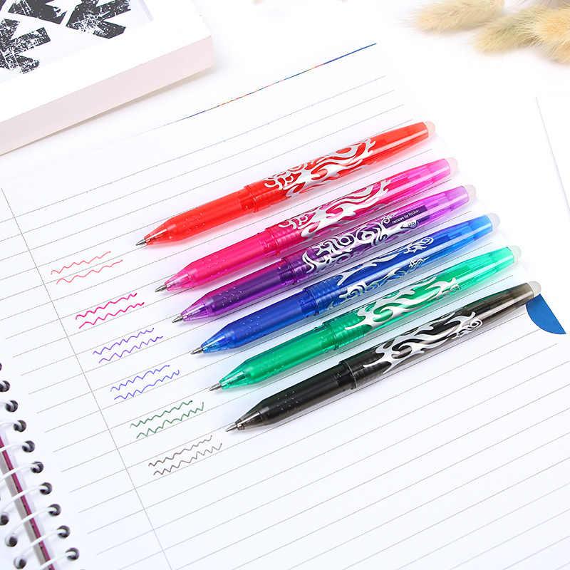 9 ألوان للاختيار 0.5 مللي متر Kawaii الطيار قابل للمسح القلم السحري هلام القلم مدرسة مكتب الكتابة لوازم طالب القرطاسية