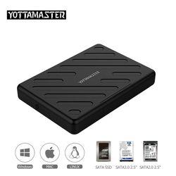 Yottamaster HDD Cas 2.5 pouce SATA à USB 3.0 Boîte de Disque Dur SSD Adaptateur pour ordinateurs portables Notebook PC Samsung Seagate HDD