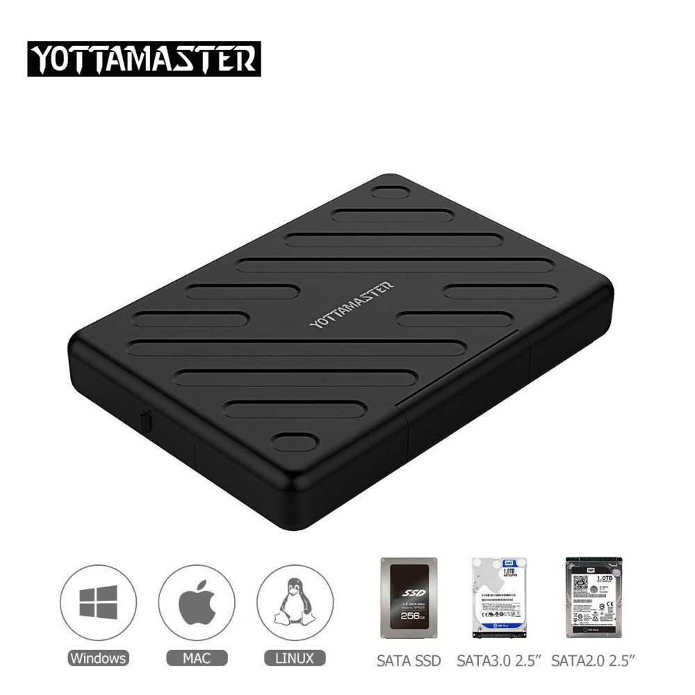 Yottamaster HDD Case 2.5 Inch SATA to USB 3.0 Hard Disk Box SSD Adapter for laptops Notebook PC Samsung Seagate HDD Enclosure цена и фото