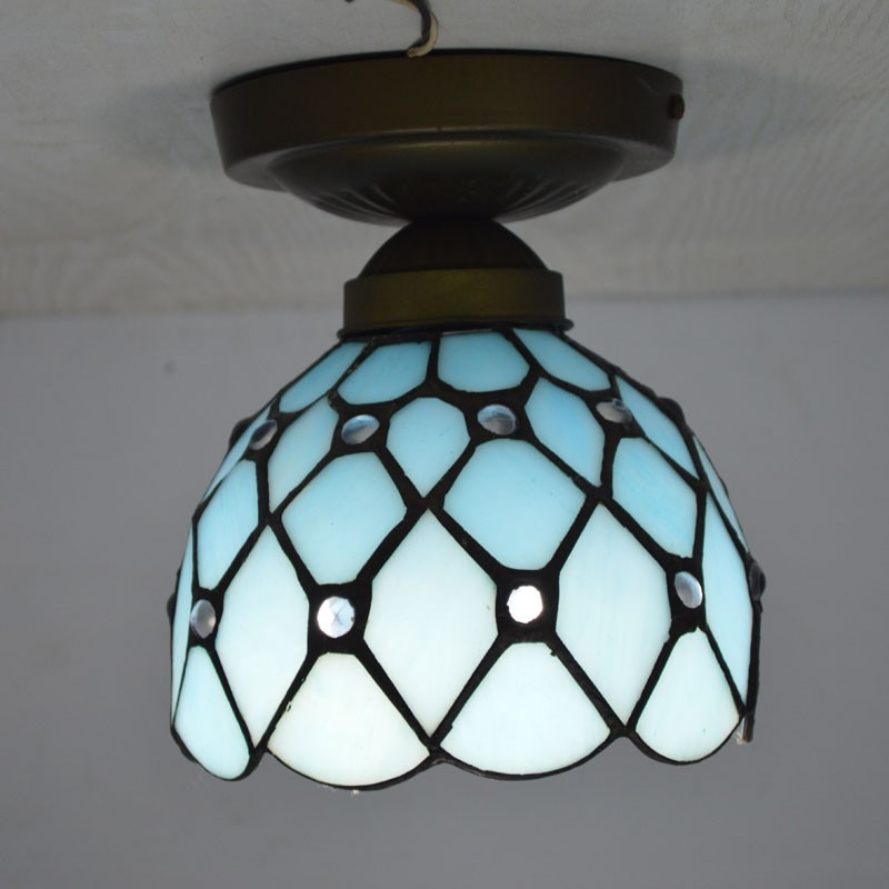 Tiffany Ceiling Light Mediterranean Sea Style Stained Glass Kitchen - Tiffany kitchen ceiling lights