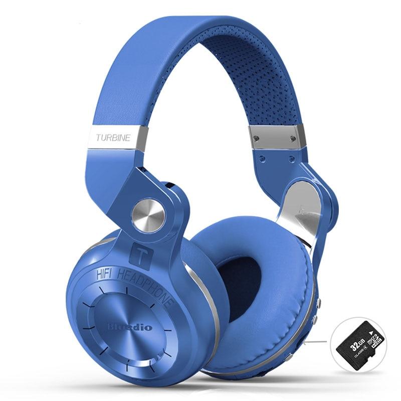 Bluedio Hifi son Bluetooth casque caisson de basses stéréo 57MM pilote ouragan Turbine musique casque Support carte SD Radio FM