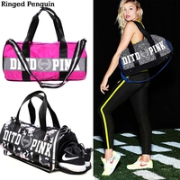 Pink Letter Team Speed Issue Duffel Bag For Women