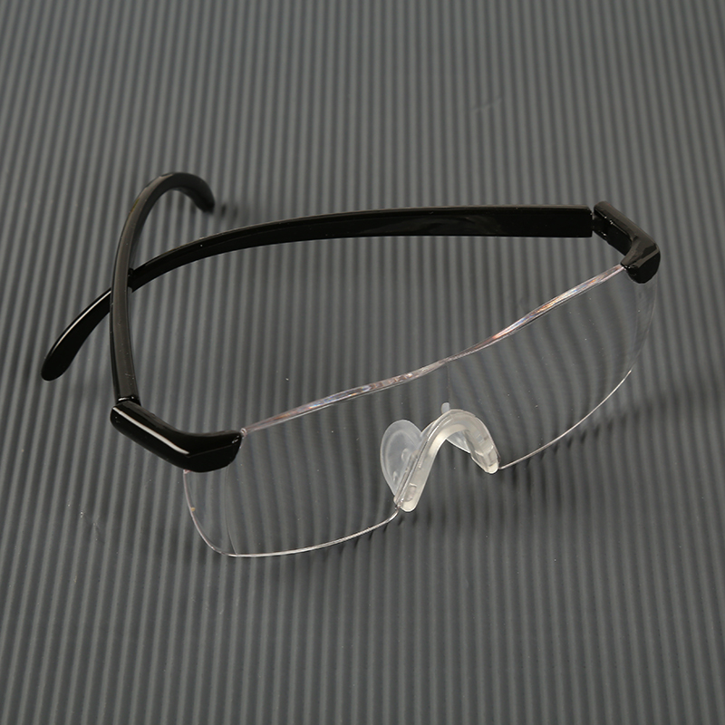 Jettery Vision Pro Magnifying Presbyopic Glasses Eyewear Black 1.6X/2.5X Magnification Gift For Needle Drop Shipping